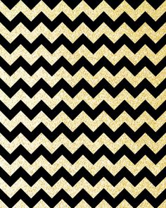 Gold And Black Chevron Wallpaper Glitter