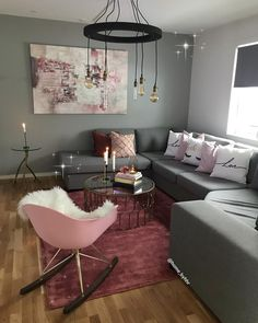 Living room decorating ideas with apartment everday Living Room Decor Cozy, Living Room Interior, Bedroom Decor, Living Room Inspiration, Home Decor Inspiration, First Apartment Decorating, Apartment Living, Apartment Goals, Apartment Ideas