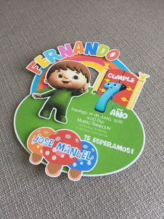 Charlie and the numbers invitation