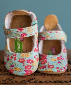 Another great find on #zulily! Gracious May Pink & Blue Liberty of London Tatum Mary Jane by Gracious May #zulilyfinds