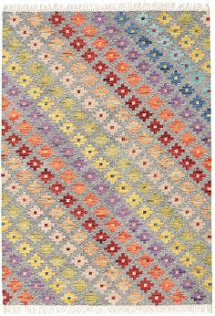 East Urban Home Contemporary Red/Olive/Sky Blue Area Rug Rug Size: Square Red Olive, Rustic Rugs, Red Blue Green, Rugs On Carpet, Carpets, Handmade Rugs, Blue Area Rugs, Rug Size, Bohemian Rug