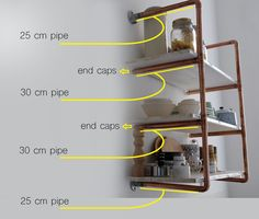 The most popular part of our kitchen seems to be our DIY copper pipe shelf. Learn how to make your own in this detailed tutorial!