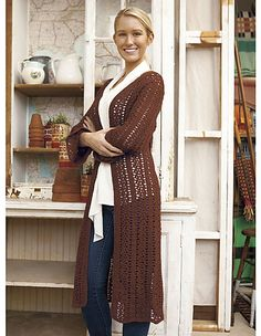 Chrysanthemum is a full-length crochet cardigan that moves effortlessly with you as you move through your day. Wear it with a bright belt as an unexpected punch of color. Wear it as an extra layer as you head to an early morning yoga class. Wear it as a light coat throughout the transitional seasons.