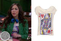 Shake it Up: Season 3 Episode 18 Dinas' Queen Of Hearts Top.   ShopYourTvShopYourTv
