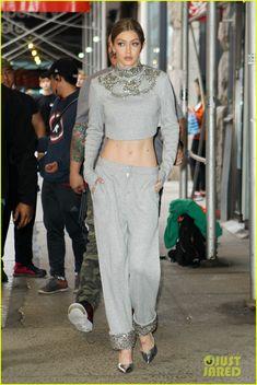 Gigi Hadid Makes Sleepwear Look Super Chic in NYC | gigi hadid pajamas sleep wear nyc 05 - Photo