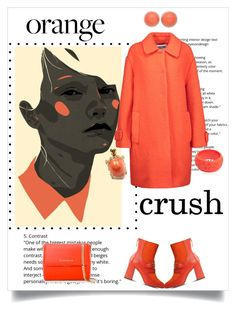 """Orange Crush"" by shoecraycray ❤ liked on Polyvore featuring Behance, Boutique Moschino, Moschino, Mariah Rovery, Van Cleef & Arpels and Givenchy"
