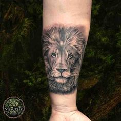 Beautiful #blackandgrey #realistic #lion tat by @michaelperryart healed with VitaliTree's #MedicineForTheSkin that's #MoreThanAftercare.   Got a new #tattoo? #SlapSomeSalveOnIt and send us pics  to be featured on our insta and help us share the wealth of health.   #animaltattoo #liontattoo #blackandgreytattoo #blackandgrey #blackink #portraittattoo #animalportrait #wilderness  #vitalitreetattoo #officialgangstagrade #dontflipoutflipthelid #instatattoo #ink #inked #tattooart #tattooaftercare