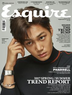 Kai (EXO) - Esquire Magazine February Issue '17 Kai Exo, Suho, Solo Album, Rapper, Kim Jongin, Spring Summer Trends, Chinese Boy, Esquire, Well Dressed