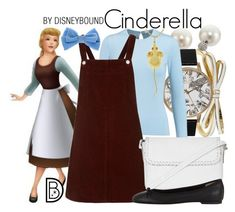 Cinderella by leslieakay on Polyvore featuring polyvore, fashion, style, Topshop, Oscar de la Renta, Barneys New York, Olivia Burton, Kate Spade, Rebecca Minkoff, Sydney Evan, clothing, disney and disneybound