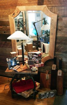 What do you give to the men in your life?  Our collection of gift ideas, including locally made cherry cutting board, vintage cricket bats, our Vintage elements articulating floor lamp, reclaimed oak pillar candleholders, and so much more from Industry Home in Santa Barbara Cricket Bat, Candleholders, Santa Barbara, Bats, Floor Lamp, Home Furnishings, Cutting Board, Cherry, Industrial