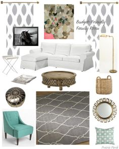 decorating grey and white