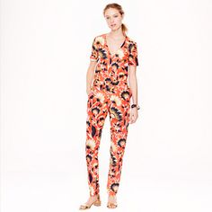 """We're big fans of the one-piece outfit—and for summer, it makes even more sense. Clean and tailored, it's the perfect silhouette to show off one of our favorite prints of the season, a bold floral we adapted from a vintage blanket our designer found in Connecticut. <ul><li>Fitted silhouette.</li><li>29"""" inseam.</li><li>Silk.</li><li>Back keyhole.</li><li>Slant pockets.</li><li>Dry clean.</li><li>Import.</li></ul>"""