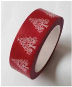 Pink Tree On Red Washi Tape - Love My Tapes
