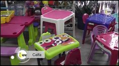Mesas à partir de R$ 65,00 -  Cadeiras com braço à partir de R$ 44,00 -  Cadeiras sem braço à partir de R$ 34,00   CALFA na REDE WW, o seu canal da rede social