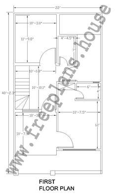 20x40 feet ground floor plan plans pinterest square for 25x40 house plan
