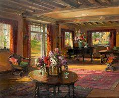 Herbert Davis Richter - A Garden Room