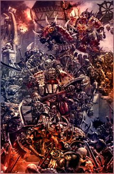 """Champions of Khorne"" __ MajesticChicken / Adrian Smith"