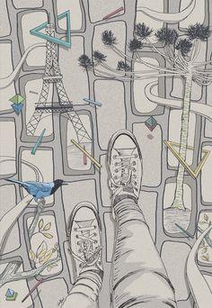 Ilustração para o projeto  ATELIER DA RUA #Curitiba / Illustration created for the project Atelier da Rua