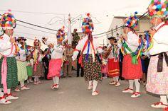 """Fiestas de San Isidro en Fuente Tójar (Córdoba), y sus típicos Danzantes / San Isidro Festivity in Fuente Tójar (Córdoba), and its typical """"danzantes"""" (men who dance)"""