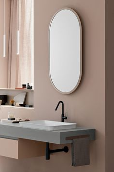 An example with a captivating and modern design is the #TU mirror, which can be coordinated with the #color of the bathroom furniture. Bathroom Furniture, Bad, Modern Design, Mirror, House, Color, Home Decor, Mirrors, Decoration Home