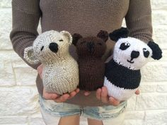 Three Little Bears Stuffed Toy  Knitting by sheilalikestoknit