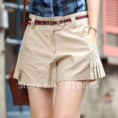 Free shipping high quality summer women's shorts ruched skorts solid color women's cotton shorts plus size on AliExpress.com. 5% off $10.44