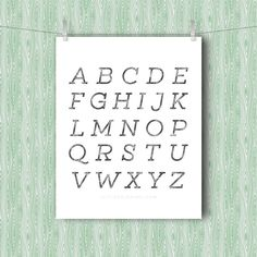 In which I search for an alphabet minimal free art printable and, coming up short, decide to design my own. Perfect for nursery or child's room.