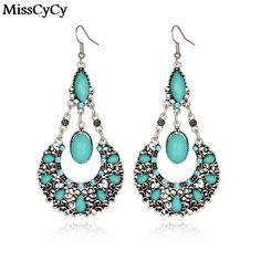 MissCyCy 2016 New Vintage Jewelry Bohemia Pending Water Droplets Drop Earrings For Women Online Shopping India #Affiliate