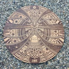 "Laser engraved & cut on 11"" stained maple wood #arttechnologyanddesign #sacredgeometry #handclicked #thedesigntip #ligaturecollective #goodtype #floweroflife #lasercut #laserengraved #lasercutting #adobe #anyfortyshowcase #vectorshaping #pixelpushing #fadehurricane by fadehurricane"