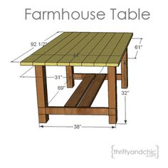 farmhouse table plans.... I so want Jordan to do this... then make a smaller version for coffee table, then two side tables;)