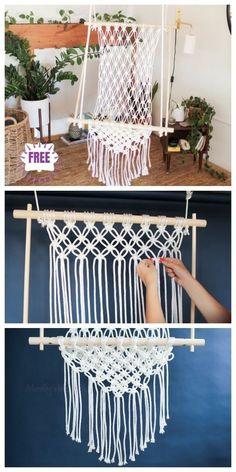 macrame plant hanger+macrame+macrame wall hanging+macrame patterns+macrame projects+macrame diy+macrame knots+macrame plant hanger diy+TWOME I Macrame & Natural Dyer Maker & Educator+MangoAndMore macrame studio Diy Swing, Diy Hammock, Hammock Swing Chair, Swinging Chair, Hammocks, Crochet Hammock Diy, Macrame Hanging Chair, Macrame Chairs, Diy Hanging