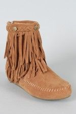moccasin ankle booties. Maybe even cuter then the moccasin boots?