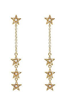 Star Long-Drop Earrings