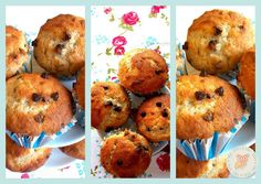 Sfizi & Vizi: Light banana and chocolate muffin - Muffin banana e cioccolato e la nuova grafica!!!!