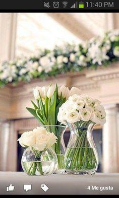 Decoracion de mesas con flores
