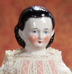 Antique Dolls, Vintage Dolls, China Dolls, Feathered Hairstyles, Antique China, Dollhouse Dolls, Doll Face, Doll Toys, Black Hair