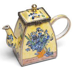 Van Gogh Irises Enamel Mini Teapot