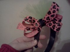 tulle and leopard bow headband by LilBlondiesBowtique on Etsy, $5.00