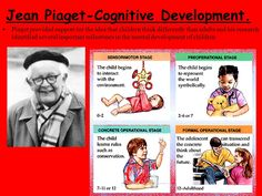 According to psychologist Jean Piaget, children progress through a series of four critical stages of cognitive development. Each stage is characterized by changes in how kids understand the world. •The sensorimotor stage, from birth to age 2 •The preoperational stage, from age 2 to about age 7 •The concrete operational stage, from age 7 to 11 •The formal operational stage, which begins in adolescence and spans into adulthood.