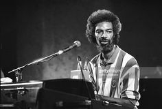 American musician Gil Scott-Heron (1949-2011) performs live on stage at the Heineken jazz festival at Doelen in Rotterdam, the Netherlands on 17th September 1988.