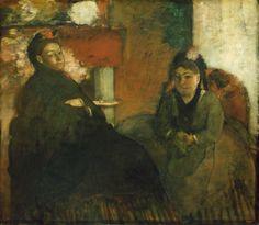 Edgar Degas French, 1834–1917, Portrait of Mme. Lisle and Mme Loubens