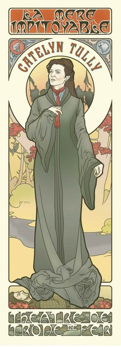 Game Of Thrones Art Nouveau poster http://leganerd.com/2013/10/10/game-of-thrones-art-nouveau/