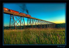 High Level Train Bridge in Lethbridge, Alberta, Canada O Canada, Alberta Canada, Canadian Prairies, Canadian Pacific Railway, Quebec City, Covered Bridges, High Level, Train Travel, New Adventures