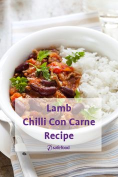 This simple Lamb Chilli Con Carne recipe makes minced meat a bit more exciting and is ideal for a quick dinner. All our recipes are nutritionally analysed by our team of experts.   #chiliconcarne #lamb #chilli #con #carne #recipe
