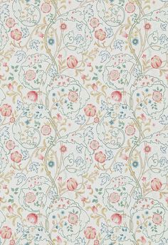 Mary Isobel Pink / Ivory wallpaper by Morris