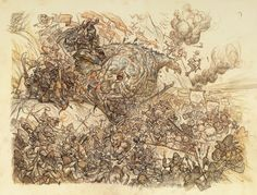 Muddy Colors: Battle of Five Armies: Tight Drawing