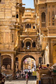 just-wanna-travel: Jaisalmer India Andres Zenteno Airport Architecture, India Architecture, Ancient Architecture, Gothic Architecture, Jaisalmer, Udaipur, Goa India, Varanasi, Places To Travel