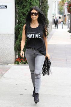 134 ways to wear denim this summer, as seen on the best dressed A-Listers: Kourtney Kardashian