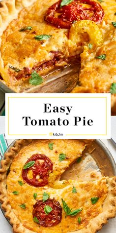 How To Make Easy Tomato Pie — Cooking Lessons from The Kitchn Vegetable Dishes, Vegetable Recipes, Herb Recipes, Pecan Recipes, Fun Recipes, Holiday Recipes, Southern Tomato Pie, Wie Macht Man, Quiche Recipes