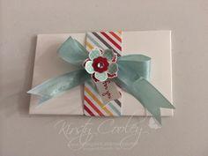 StampIN-K.  Stampin Up! Envelope punch board gift card holder